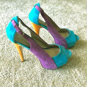 Aldo Color block Heels